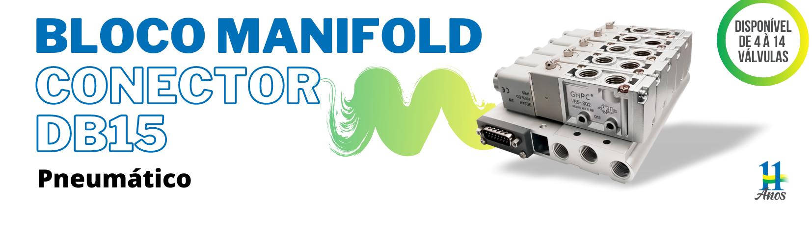 Bloco Manifold com Conector DB15 - Série VVB5-DB15