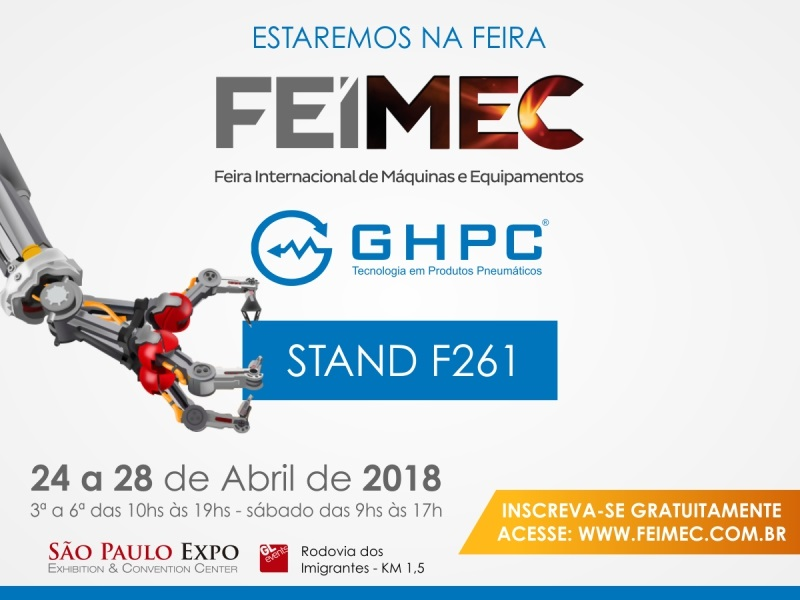 GHPC participa da FEIMEC 2018