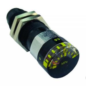 Manômetro Miniatura com Passa Muro, Engate Rápido para Tubo Ø6mm - Modelo M15-10-C06