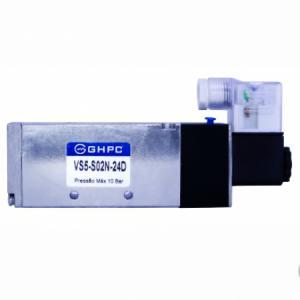 Válvula Direcional 5/2 vias Solenoide, Corpo em Inox 316 - Série VS5